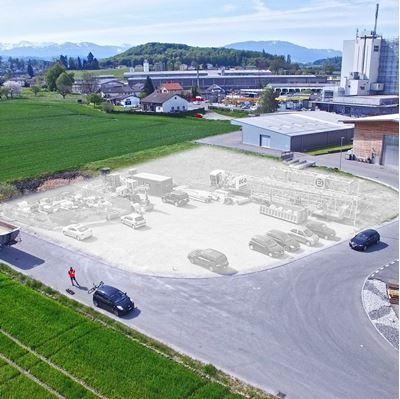 Bild von Bauland dokumentieren mit Luftaufnahmen